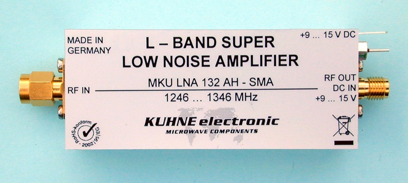 MKU LNA 132 AH SMA, Low Noise Amplifier - Kuhne Electronic